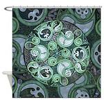 Celtic Stormy Sea Mandala Shower Curtain
