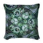 Celtic Stormy Sea Mandala Woven Throw Pillow