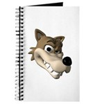 Funny Wolf Face Journal