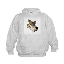 Funny Wolf Face Hoodie