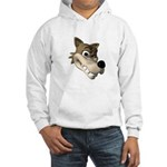 Funny Wolf Face Hooded Sweatshirt