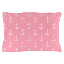 Pink Anchors Pattern Pillow Case