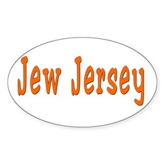 Jew Jersey Oval Decal