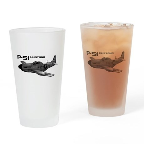 P-51 Mustang Drinking Glass