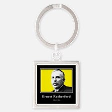 Ernest Rutherford Like A Boss Square Keychain