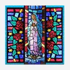 Our Lady of Guadalupe in Stained Glass Tile Coaste