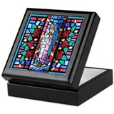 Blessed virgin mary Keepsake Boxes