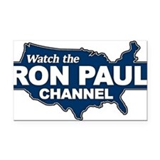 Watch The Ron Paul Channel! Rectangle Car Magnet
