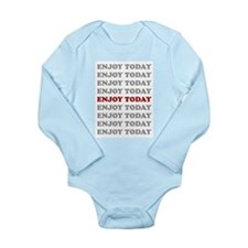 Cute Enjoy life Long Sleeve Infant Bodysuit