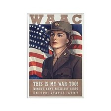 WAAC Rectangle Magnet