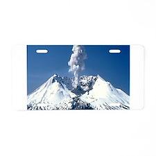 Mt. St. Helens Aluminum License Plate