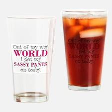 Cute Slogans Drinking Glass