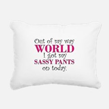 Cute Sassy Rectangular Canvas Pillow