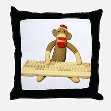 Code Monkey Throw Pillow