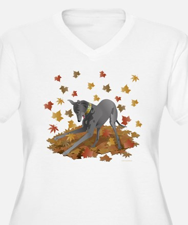 Playful Greyhound Plus Size T-Shirt