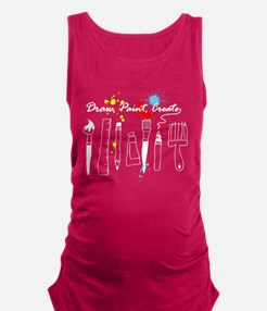 Draw Paint Create (Color) Maternity Tank Top
