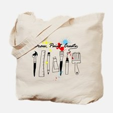 Draw Paint Create (Color) Tote Bag