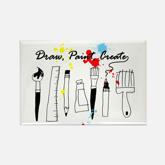 Draw Paint Create (Color) Rectangle Magnet