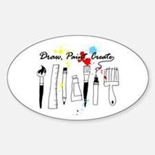 Draw Paint Create (Color) Sticker (Oval)
