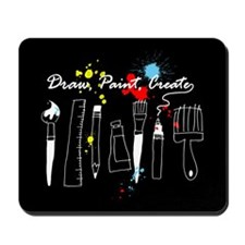 Draw Paint Create (Color) Mousepad