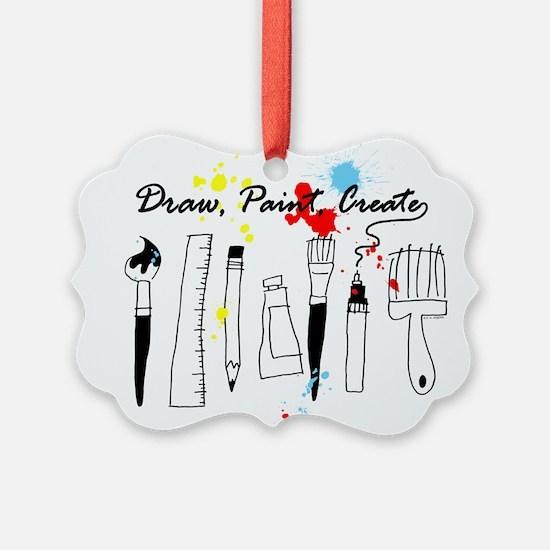 Draw Paint Create (Color) Ornament