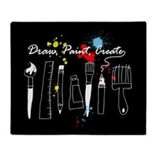 Draw Paint Create (Color) Throw Blanket