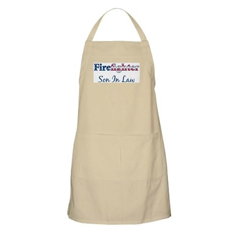 Firefighter Son In Law BBQ Apron