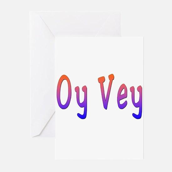 Yiddish Oy Vey Greeting Cards (Pk of 10)