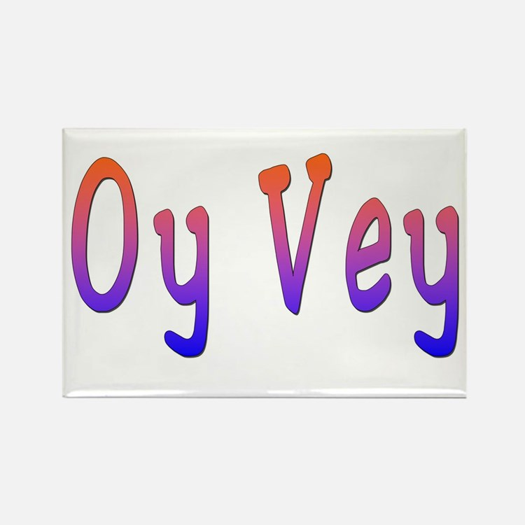 Yiddish Oy Vey Rectangle Magnet