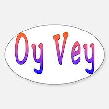 Yiddish Oy Vey Oval Decal