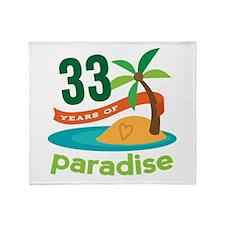 33rd Anniversary Paradise Throw Blanket