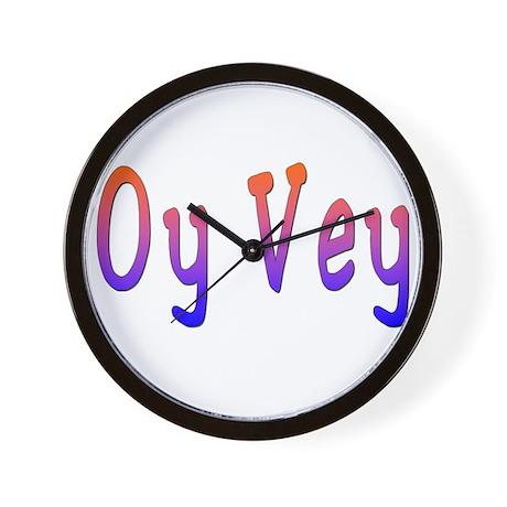 Yiddish Oy Vey Wall Clock
