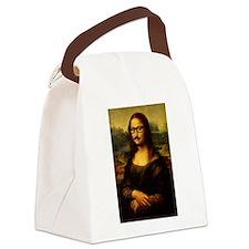 Mona Lisa Incognito Canvas Lunch Bag