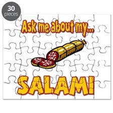 Funny Ask Me About My Salami Innuendo Humor Puzzle