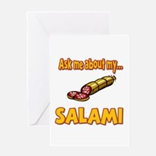 Funny Ask Me About My Salami Innuendo Humor Greeti
