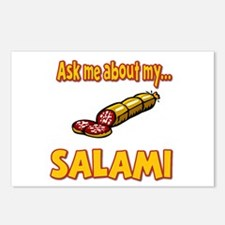 Funny Ask Me About My Salami Innuendo Humor Postca