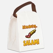 Funny Ask Me About My Salami Innuendo Humor Canvas
