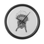 Indian Headdress Monkey Large Wall Clock