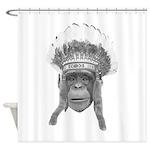 Indian Headdress Monkey Shower Curtain