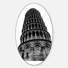 Leaning Tower of Pisa Sticker (Oval)