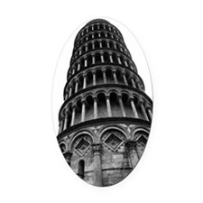 Leaning Tower of Pisa Oval Car Magnet