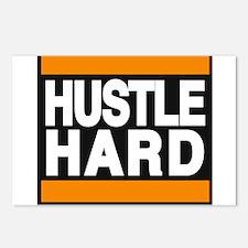 hustle hard orange Postcards (Package of 8)