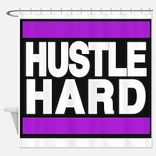 hustle hard purple Shower Curtain