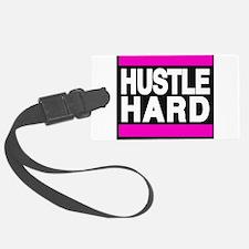 hustle hard pink Luggage Tag