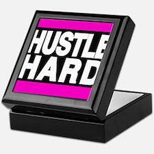 hustle hard pink Keepsake Box