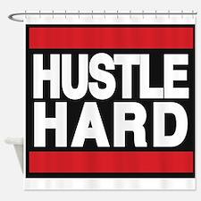 hustle hard red Shower Curtain