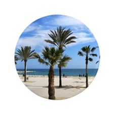 """Palm Trees 3.5"""" Button"""