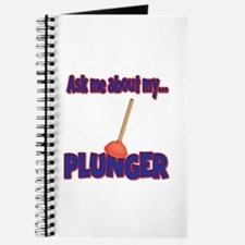 Funny Ask Me About My Plunger Plumber Design Journ