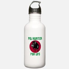 Pig hunter for life Sports Water Bottle