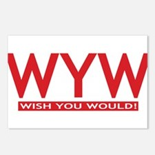 wish you would red Postcards (Package of 8)